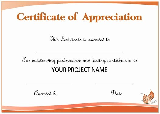 Employee Recognition Award Template Lovely 20 Free Certificates Appreciation for Employees