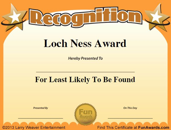 Employee Recognition Award Template Lovely Funny Employee Awards™ 101 Funny Awards for Employees