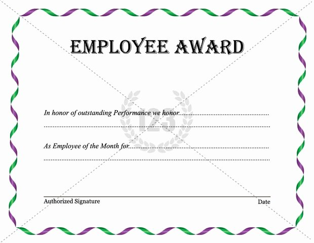 Employee Recognition Award Template New Best Employee Award Template Download now