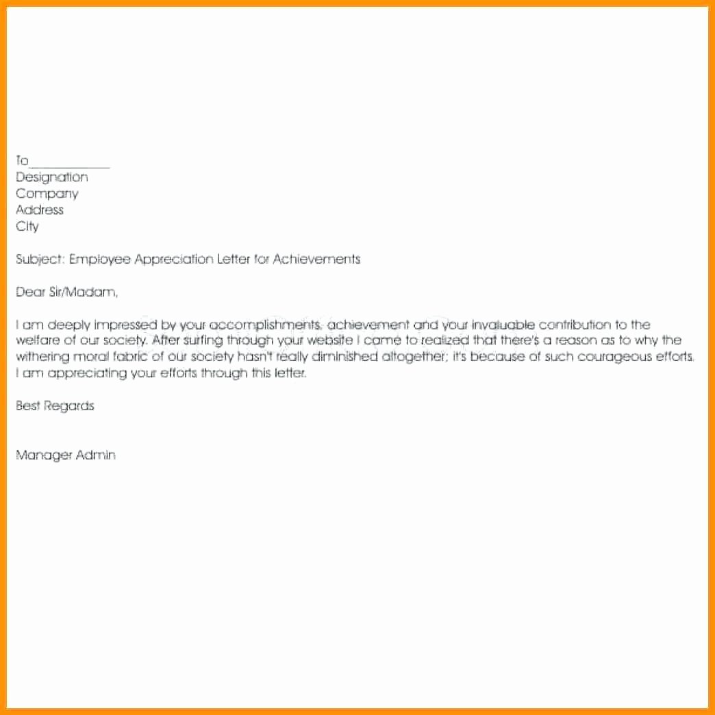 Employee Recognition form Template Best Of Template Employee Recognition form Template