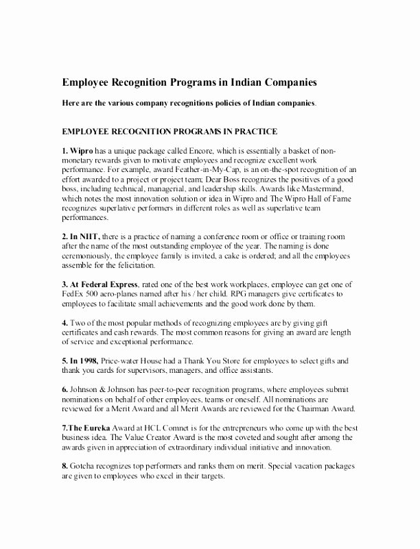 Employee Recognition form Template Fresh 7 Employee Recognition Nomination form Template Rulut
