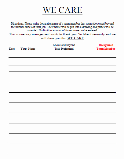 Employee Recognition form Template Lovely Potatoepete's Posts social Media Connected