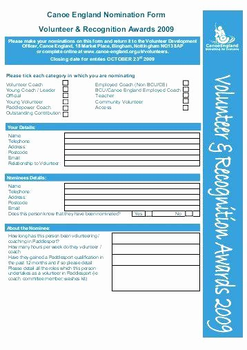 Employee Recognition Nomination form Template Fresh Employee Recognition Nomination form Template the Month