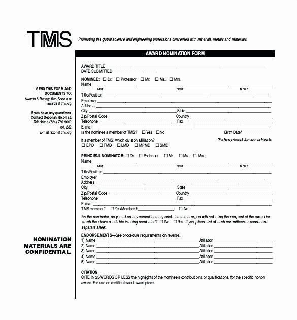 Employee Recognition Nomination form Template Fresh Rewards and Recognition Program Template Nomination form