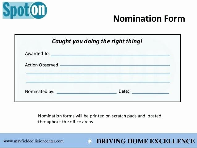 Employee Recognition Nomination form Template Inspirational 7 Employee Recognition Nomination form Template Plan