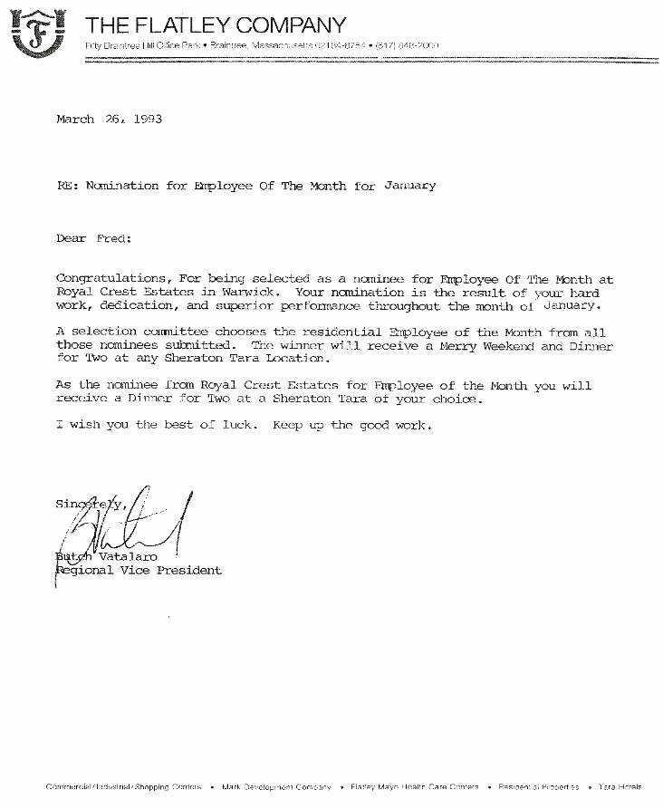 Employee Recognition Nomination form Template Luxury Employee Promotion Announcement Template Sample Letter I