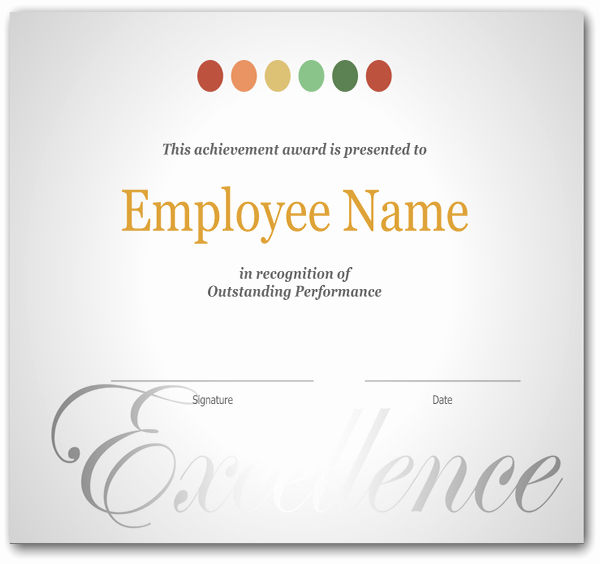 Employee Recognition Program Template Awesome Simple Employee Recognition Awards Certificate Sample V