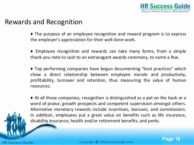 Employee Recognition Program Template Elegant Employee Relations