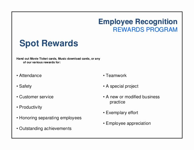 Employee Recognition Program Template Fresh Employee Recognition