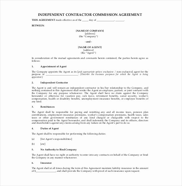 Employee Sales Commission Agreement Template New 19 Mission Agreement Templates Word Pdf Pages