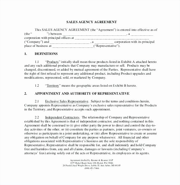 Employee Sales Commission Agreement Template New Memorandum Agreement Sample Unique Mission Template Sales