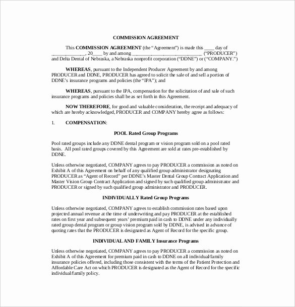 Employee Sales Commission Agreement Template Unique 19 Mission Agreement Templates Word Pdf Pages