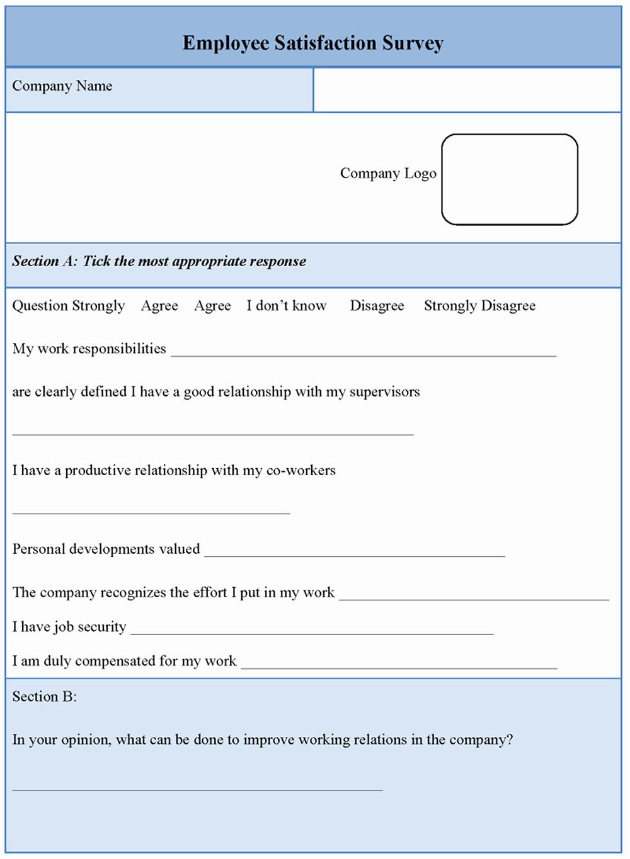 Employee Satisfaction Survey Template Elegant Download Free software Free Download Basic Principle