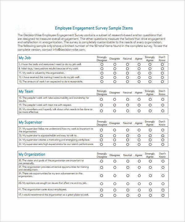 Employee Satisfaction Survey Template Word Best Of 7 Employee Survey Templates Download for Free