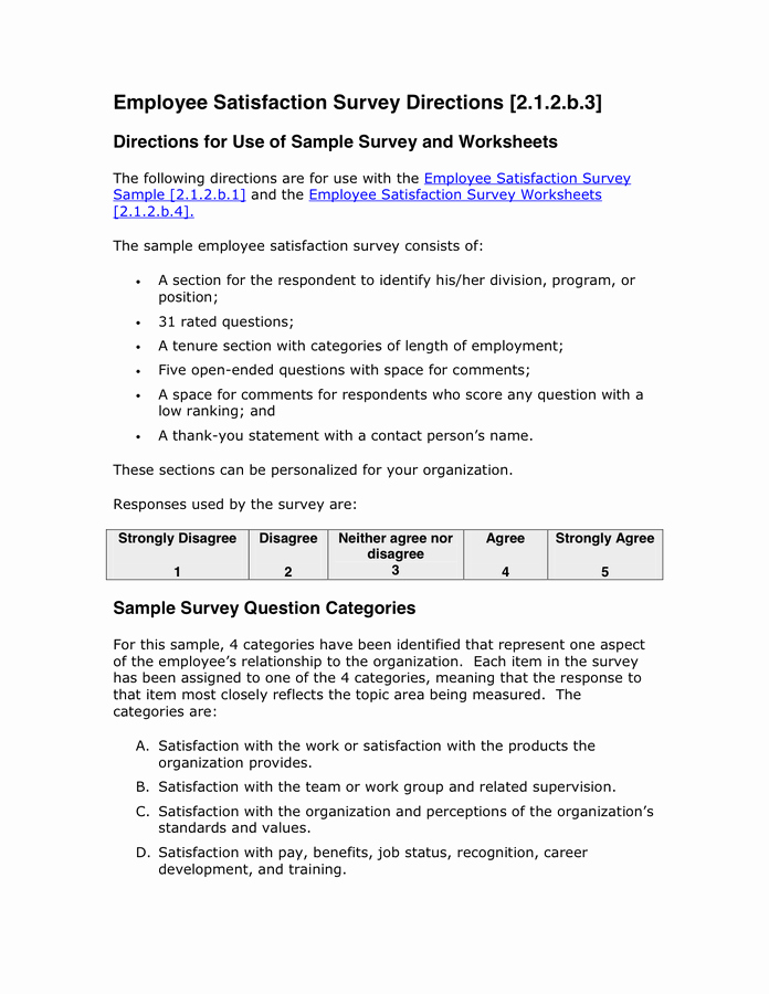Employee Satisfaction Survey Template Word Best Of Sample Cover Letter for Employee Satisfaction Survey