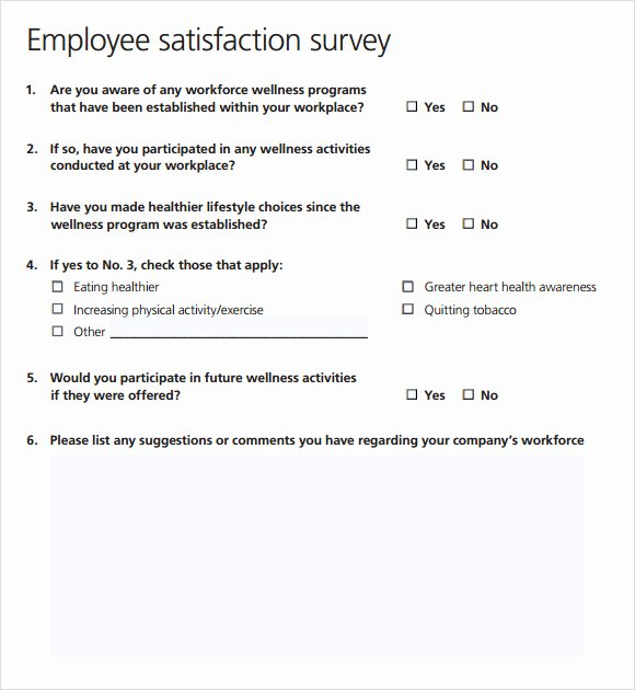 Employee Satisfaction Survey Template Word Elegant Employee Satisfaction Survey 16 Download Free Documents