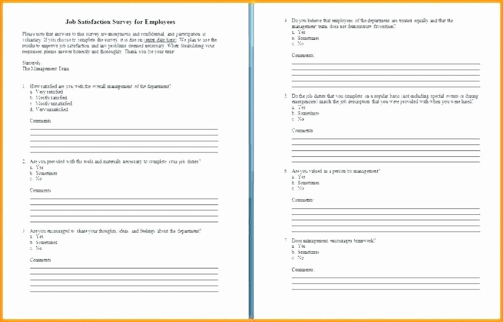 Employee Satisfaction Survey Template Word Elegant Printable Customer Satisfaction Survey Template Word Poll