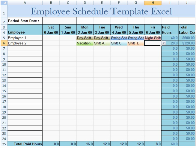 Employee Schedule Calendar Template Elegant Download Employee Schedule Template Excel