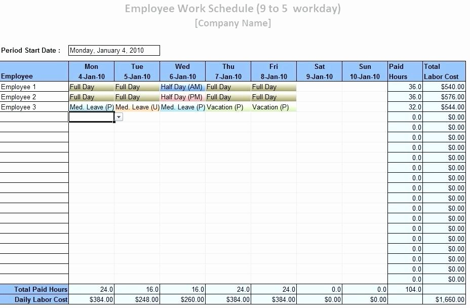 Employee Schedule Calendar Template Luxury Free Staff Holiday Planner Excel Template 2015 Shift