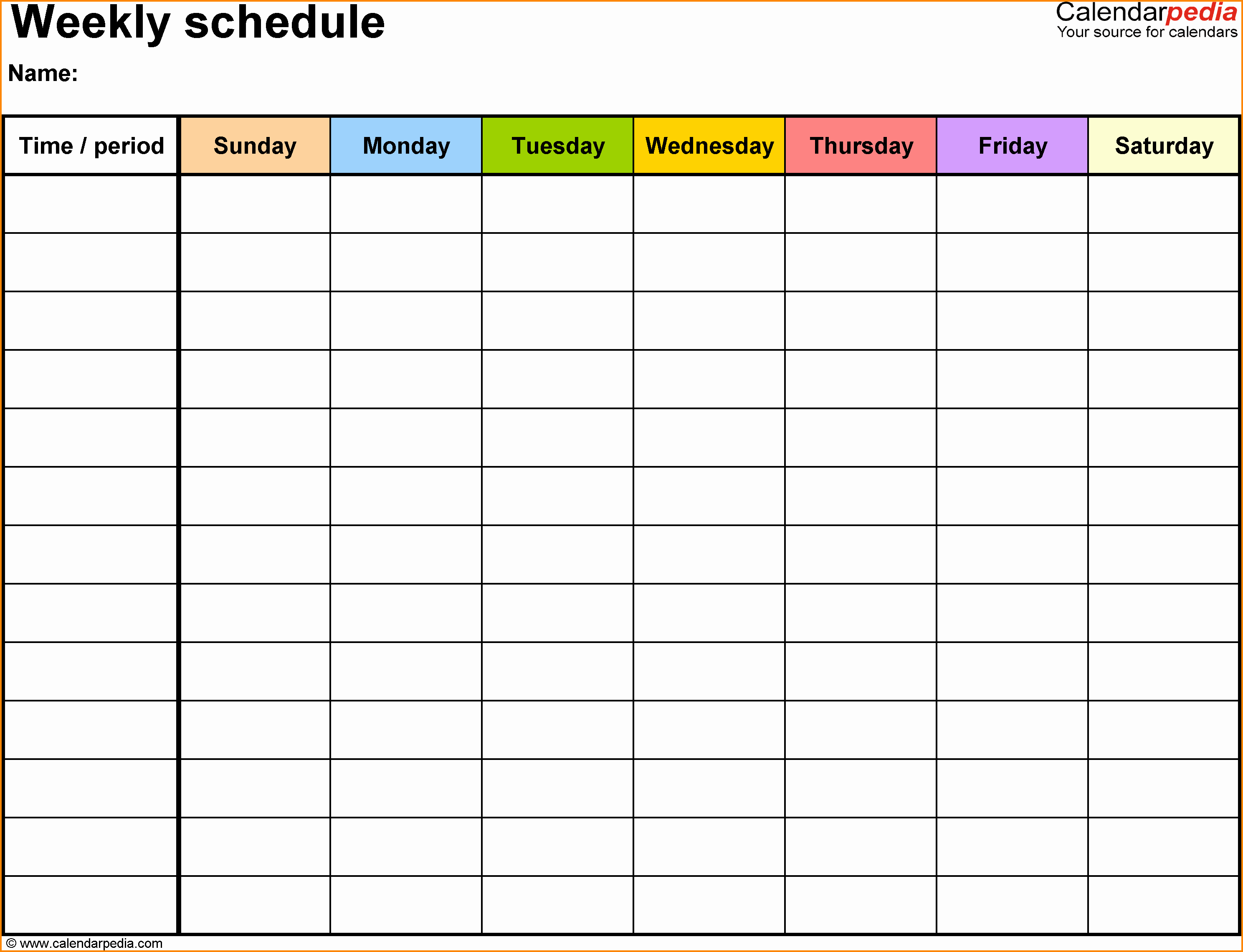 5 free employee schedule template