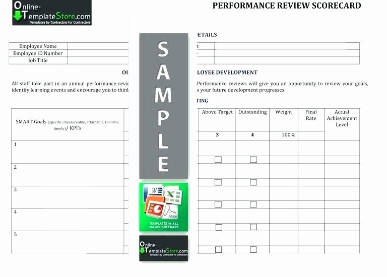 Employee Scorecard Template Excel Inspirational Employee Performance Scorecard Template Excel Templates