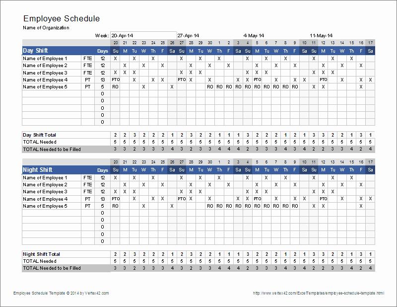 Employee Shift Schedule Template Excel Best Of Employee Schedule Template