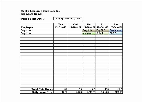 Employee Shift Schedule Template Excel Elegant Shift Schedule Templates – 12 Free Word Excel Pdf
