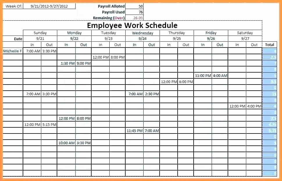 Employee Shift Schedule Template Excel Elegant Work Schedule Template Weekly – Buildingcontractor