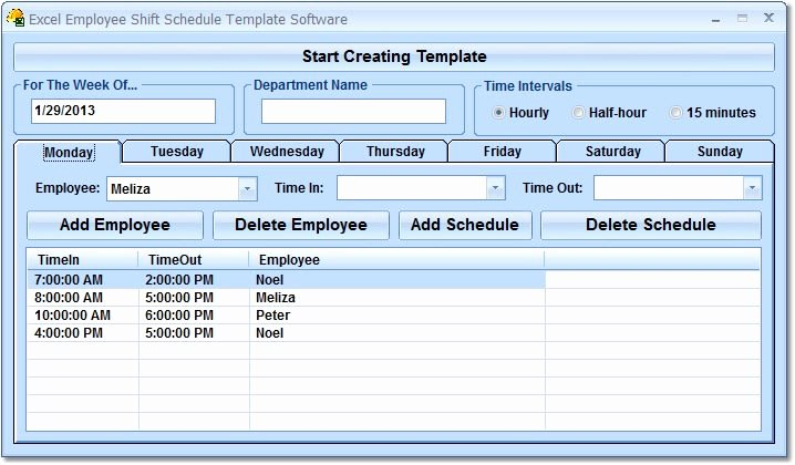 Employee Shift Schedule Template Excel Lovely Excel Employee Shift Schedule Template software Download