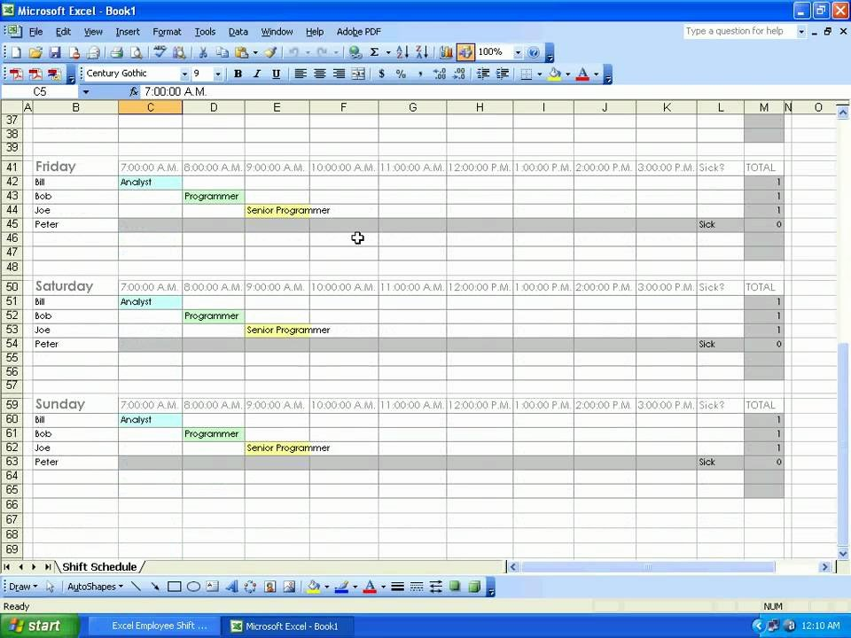 Employee Shift Schedule Template Excel Lovely sobolsoft How to Use Excel Employee Shift Schedule