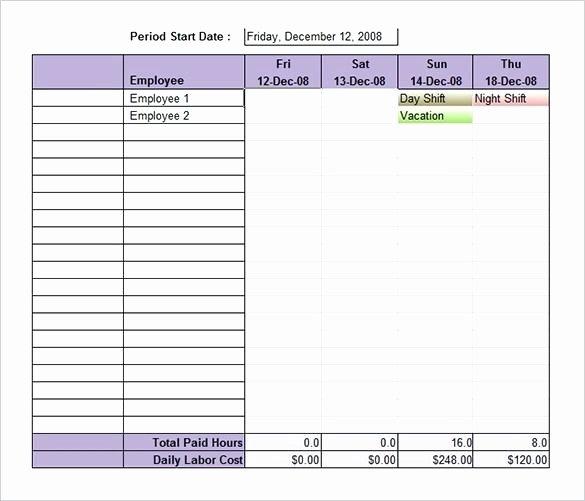 Employee Shift Schedule Template Excel Luxury Labor Schedule Template Monthly Staff Schedule Template El