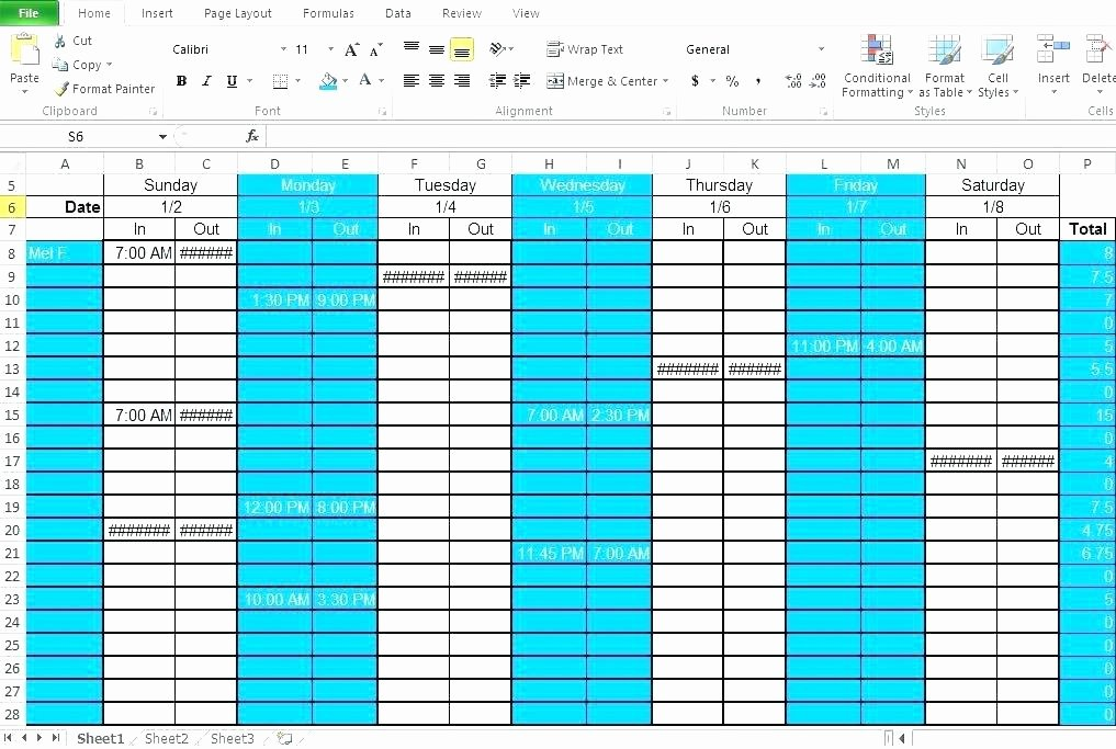Employee Shift Scheduling Template Elegant Multiple Employee Work Schedule Template for Scheduling