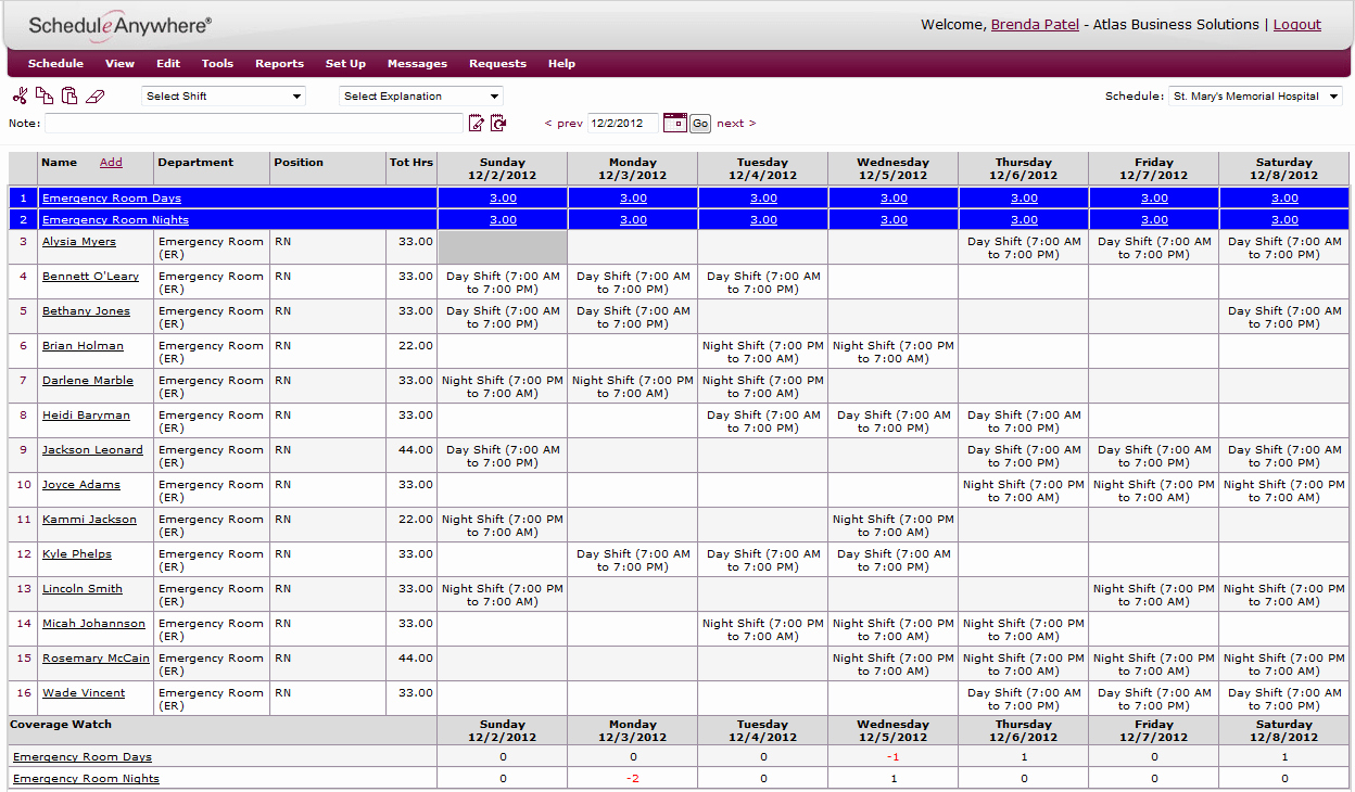 Employee Shift Scheduling Template Fresh 6 Employee Shift Schedule Templates