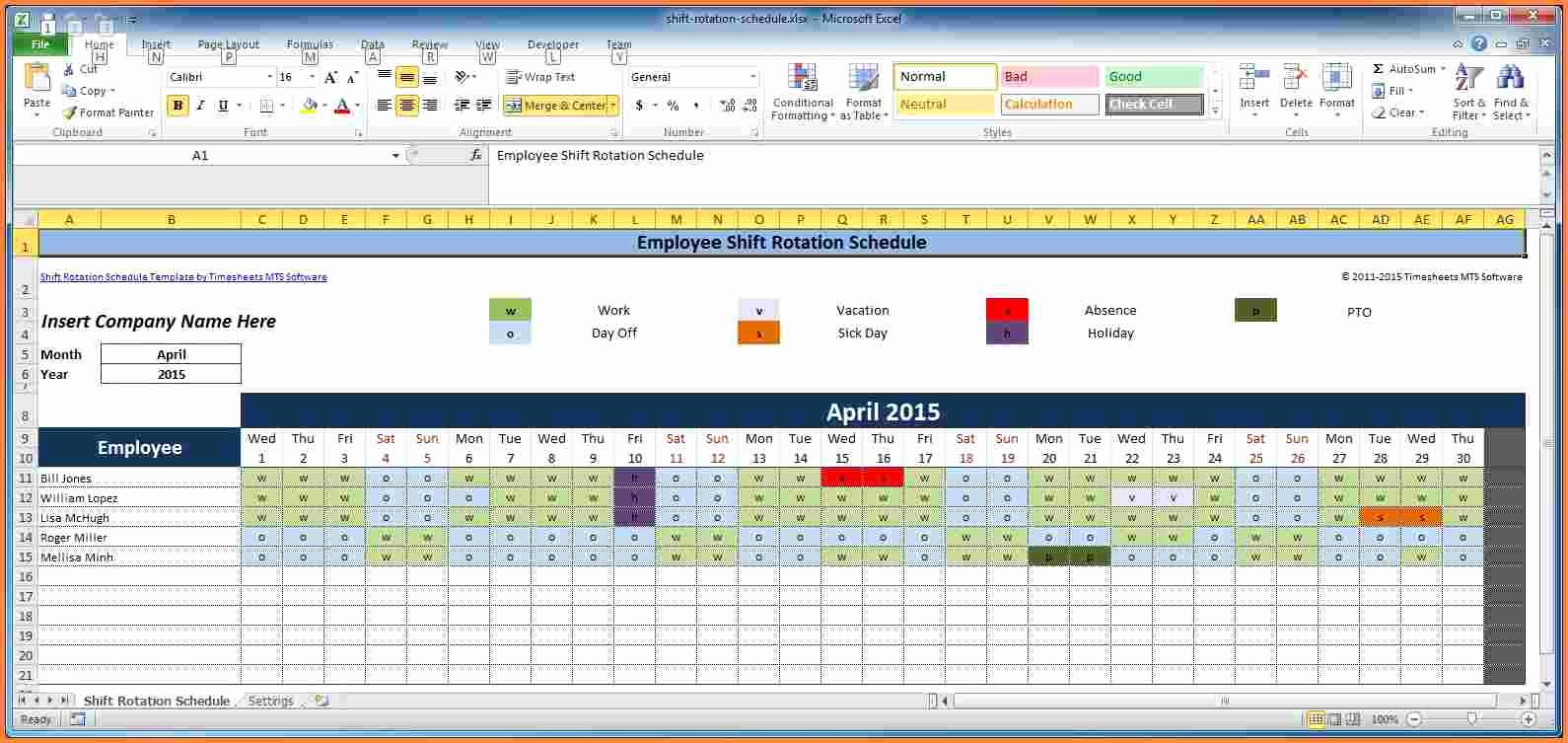 Employee Shift Scheduling Template Inspirational 7 Employee Scheduling Spreadsheet Excel