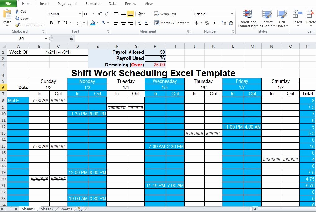 Employee Shift Scheduling Template New Employee Shift Schedule Generator Excel Template Excel Tmp
