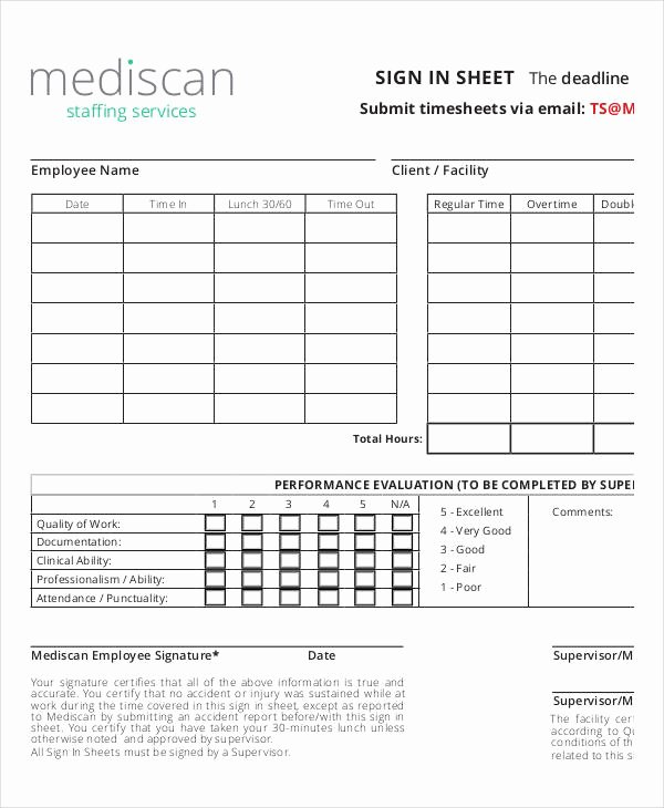 Employee Sign In Sheet Template Luxury Employee Sign In Sheets 8 Free Word Pdf Excel