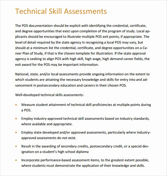 Employee Skills assessment Template Fresh 8 Sample Skills assessment Templates to Download for Free