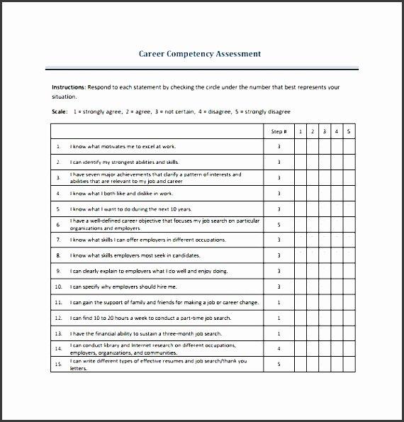 Employee Skills assessment Template Inspirational 4 Skills assessment format Sampletemplatess