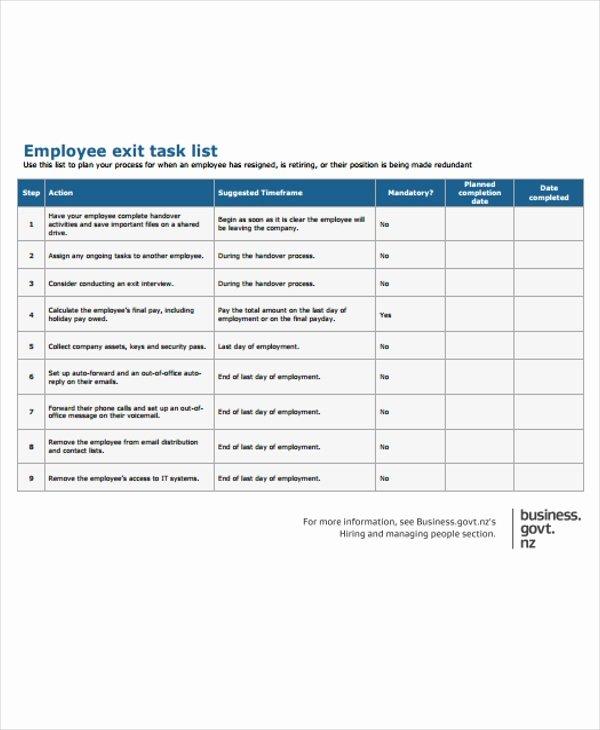 Employee Task List Template Fresh 20 Free Task List Templates