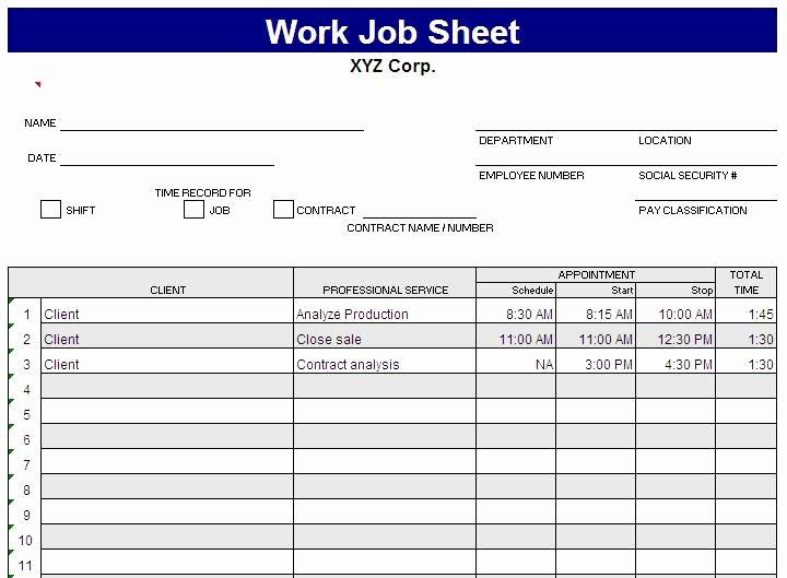 Employee Task List Template Fresh Daily Work Task List Template