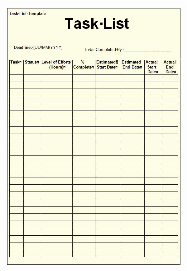 Employee Task List Template Unique Employee Task List Template to Pin On Pinterest