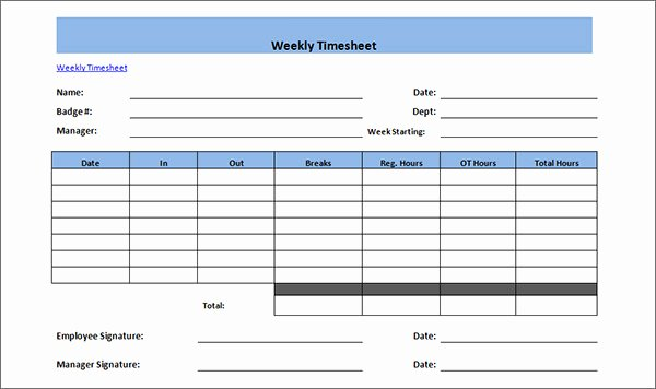 Employee Time Card Template Best Of 16 Free Amazing Time Card Calculator Templates