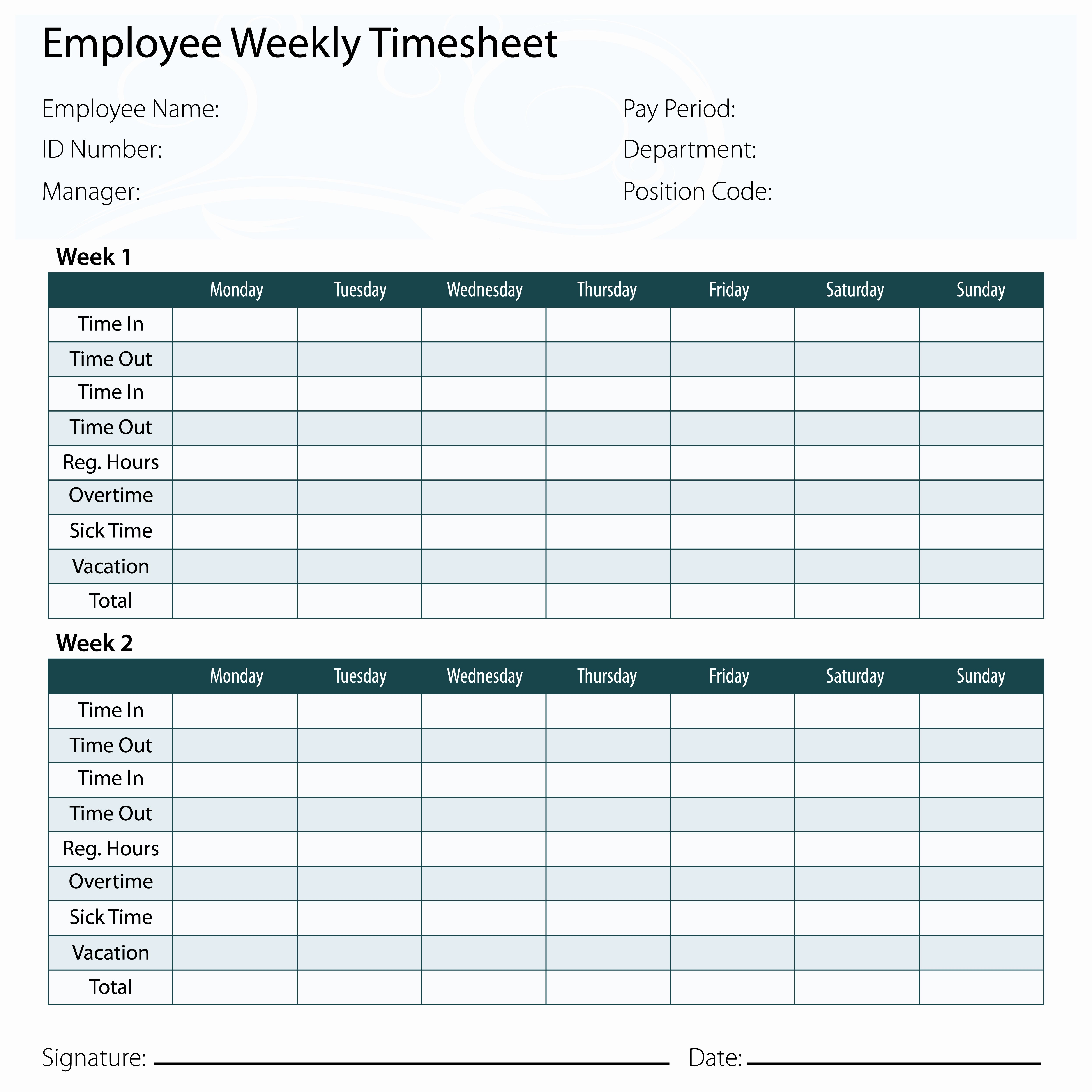 Employee Time Card Template Inspirational why You Might Want Exempt Employees to Keep Timecards