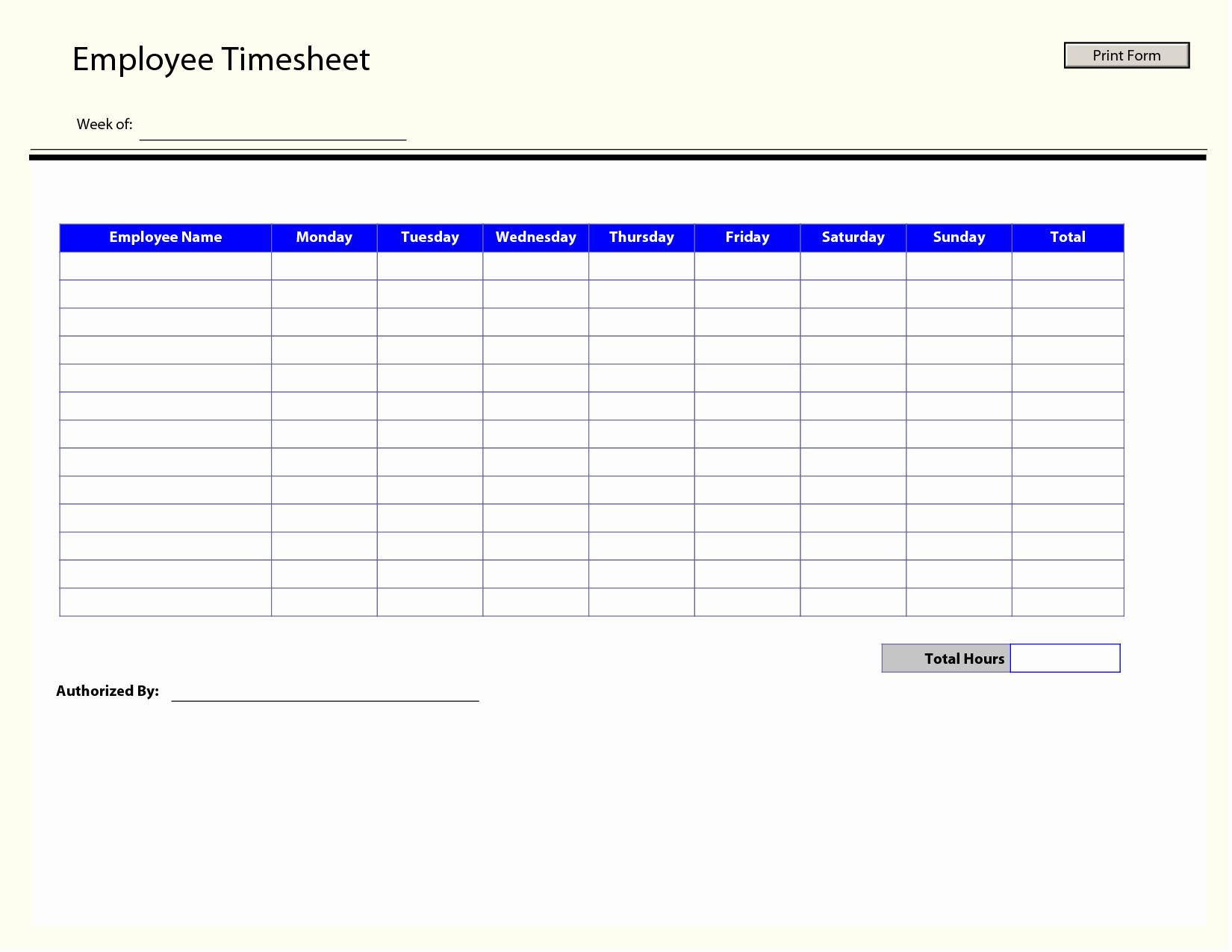 Employee Time Card Template Unique Printable Time Sheets