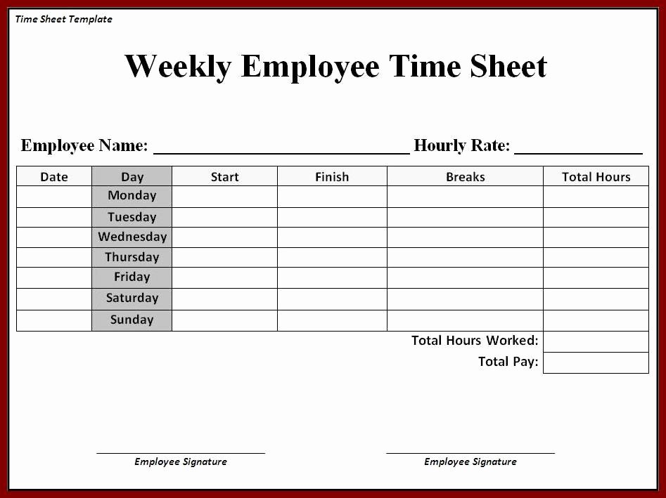 Employee Time Cards Template Fresh Printable Timesheet Printable 360 Degree