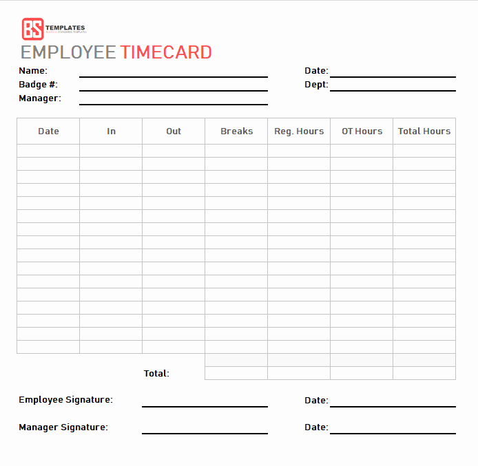 Employee Time Cards Template Unique Time Card Template – Free Time Sheet Template In Excel