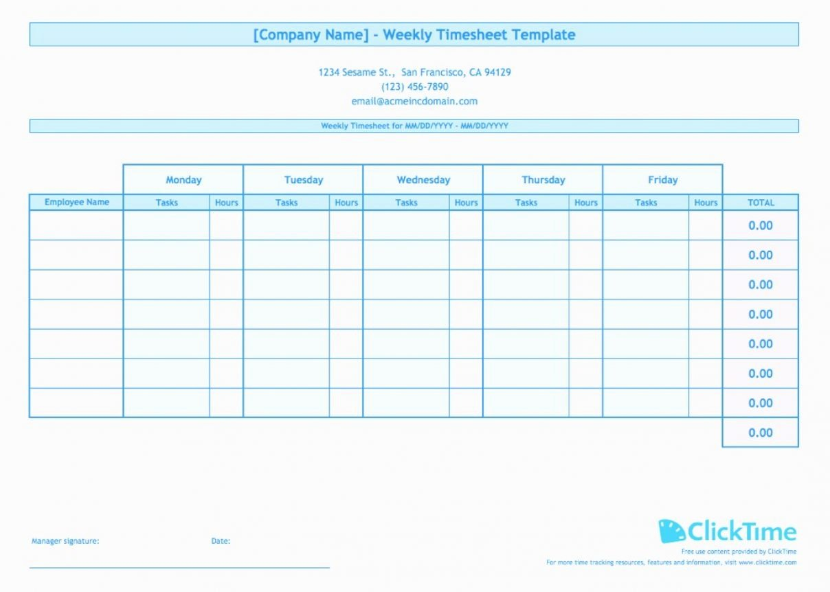 Employee Time Tracking Template Awesome Employee Timesheet Spreadsheet Spreadsheet softwar