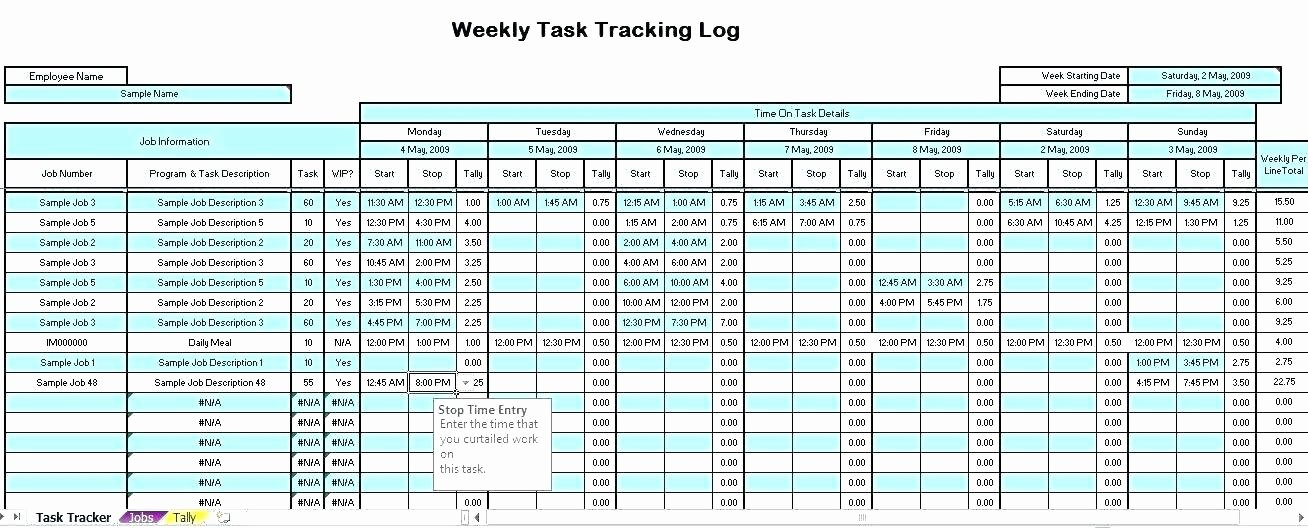 Employee Time Tracking Template Awesome Time Tracking Excel Template – Juegame