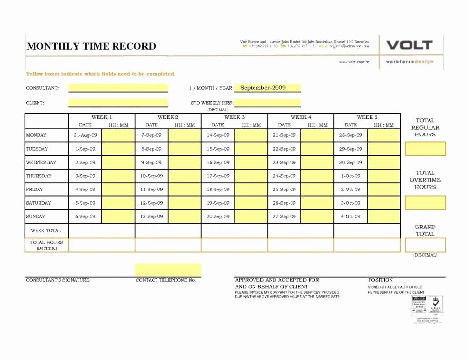 Employee Time Tracking Template Best Of Employee Time Tracking Spreadsheet or Monthly Timesheet
