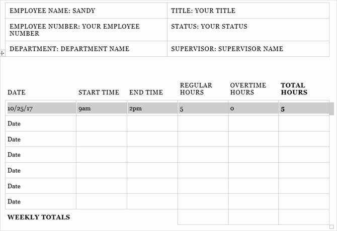 Employee Time Tracking Template New Need A Timesheet Template to Track Your Hours Here are 12